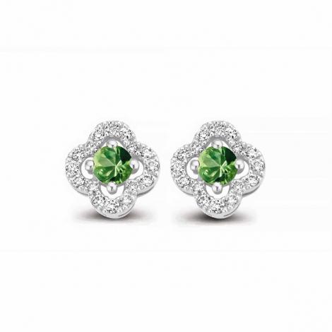 Boucles d'oreilles saphir vert et diamants One More - Salina 062777EA