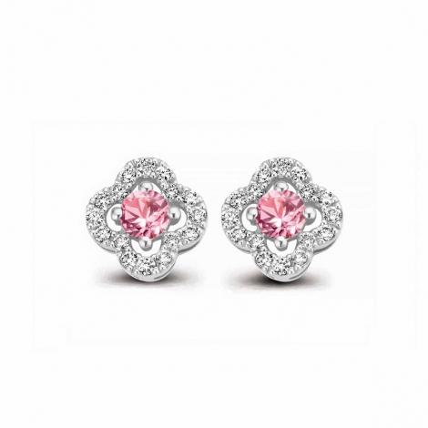 Boucles d'oreilles saphirs bleu et diamants One More - Salina 062777XA