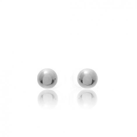 Boucles d'oreilles Sphère Or Blanc Alicia - 651020