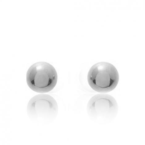 Boucles d'oreilles Sphère Or Blanc Violaine - 651059