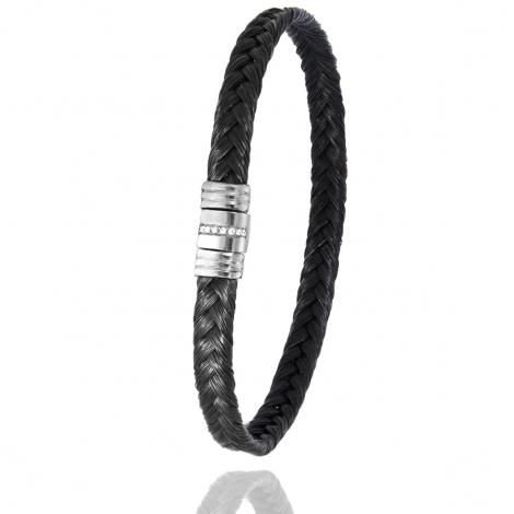 Bracelet Albanu en Poil de girafe acier et diamant 5gr  Ayumi - 608-1LTGIORblanc
