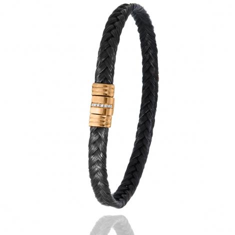 Bracelet Albanu en Poil de girafe acier et diamant 5gr  Ayumi - 608-1LTGIORrose