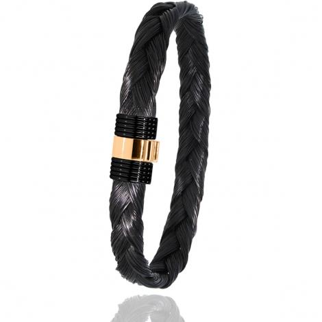 Bracelet Albanu en Poil de girafe acier et or 0.45gr  Eugénie - 607NTGIORrose