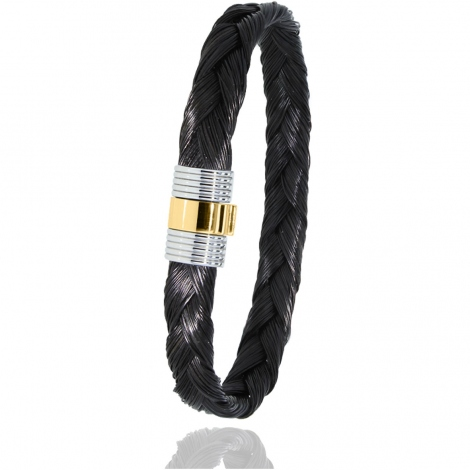 Bracelet Albanu en Poil de girafe acier et or 0.45gr  Floralie - 607TGIORjaune