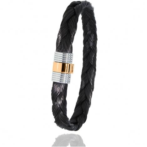Bracelet Albanu en Poil de girafe acier et or 0.45gr  Leïla - 607TGIORrose