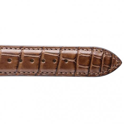 Bracelet de montre Crocodile Homme de couleur Cognac -Clarence - 18114-40