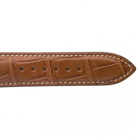 Bracelet de montre Crocodile Homme de couleur Cognac -Clémentine - 18614E-40