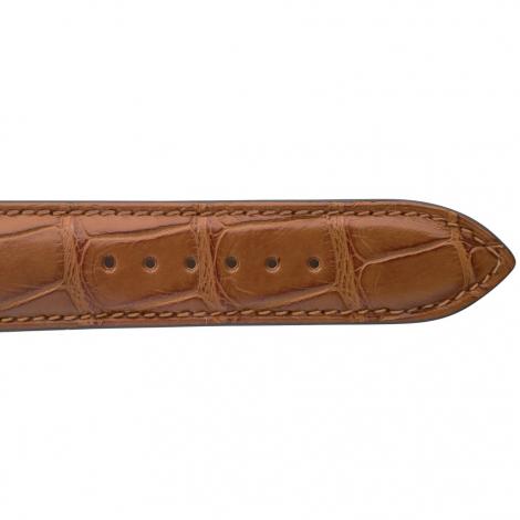 Bracelet de montre Crocodile Homme de couleur Cognac -Dorothée - 18614-40