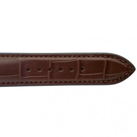 Bracelet de montre Crocodile Homme de couleur Gold -Isabella - 18614-02