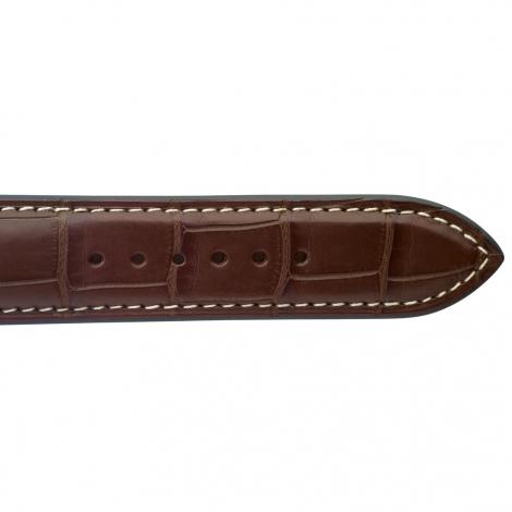 Bracelet de montre Crocodile Homme de couleur Gold -Lushai - 18614E-02
