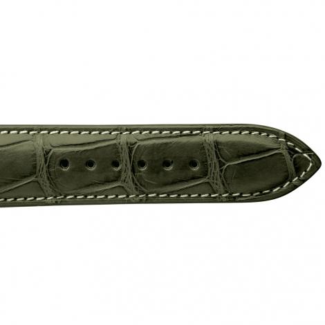 Bracelet de montre Crocodile Homme de couleur Kaki -Clémentine - 18614E-20
