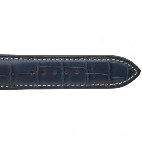 Bracelet de montre Crocodile Homme de couleur Marine -Vahiti - 18614E-04