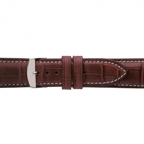 Bracelet Montre Crocodile Mat Bordeaux