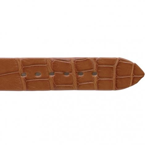Bracelet de montre Crocodile Homme de couleur Miel -Liana - 18004-06
