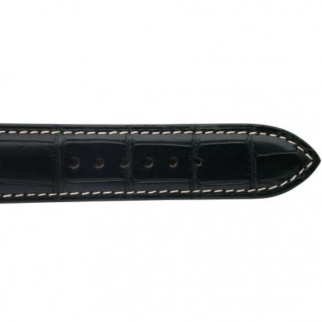 Bracelet de montre Crocodile Homme de couleur Noir -Adonia - 18614E-01