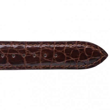 Bracelet de montre Crocodile Unisexe de couleur Gold -Tania - 18124-02