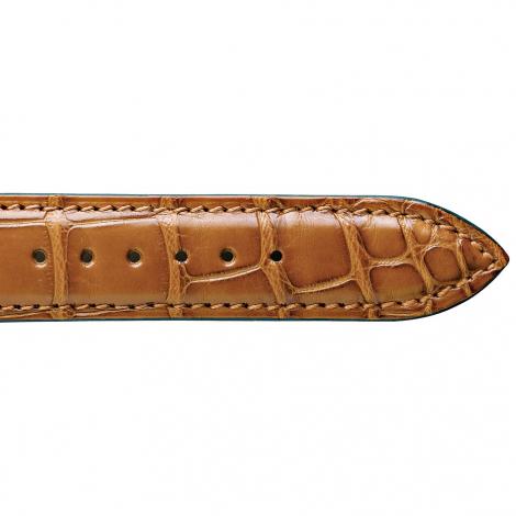 Bracelet de montre Crocodile Unisexe de couleur Miel -Asya - 18114-06