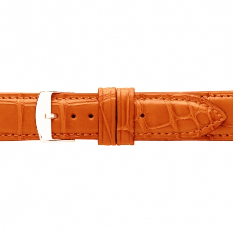 Bracelet Montre Crocodile Mat Orange