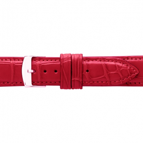 Bracelet Montre Crocodile Mat Rouge