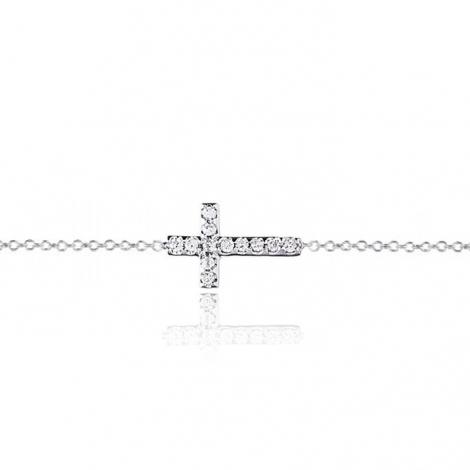 Bracelet croix diamants One More 0.05 ct - Ischia -049263A