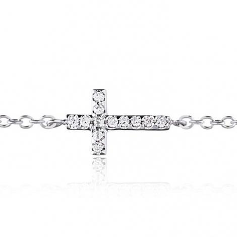 Bracelet croix diamants One More 0.22 ct - Ischia -049210A