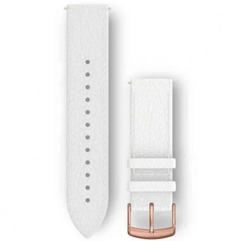 Bracelet Cuir Blanc - 20mm - Garmin - 010-12691-0B