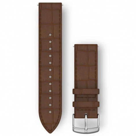 Bracelet Cuir gaufré Brun foncé - 20mm - Garmin - 010-12691-0D