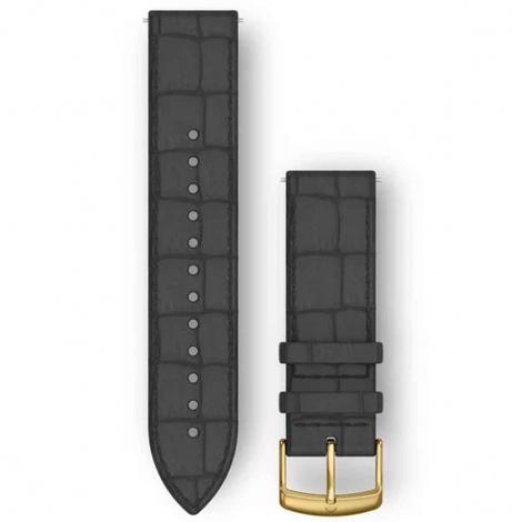Bracelet Cuir gaufré Noir - 20mm - Garmin - 010-12691-0C