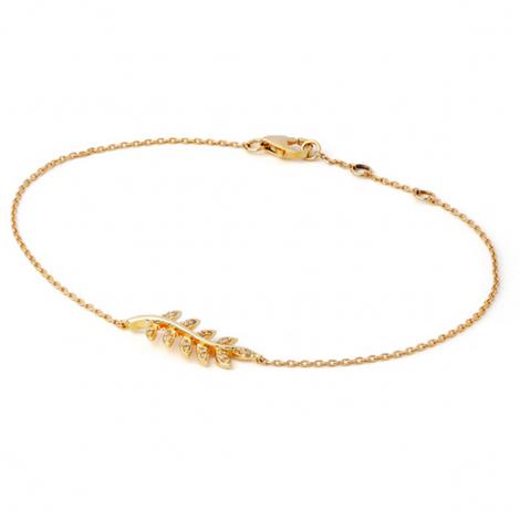 Bracelet diamant 0.05 ct G-VS en Or Jaune - Teorina - B2443FMGYN800