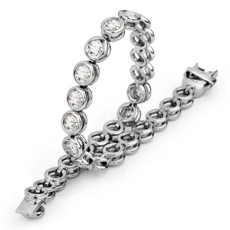Bracelet diamant 0.50 ct G-VS en Or Blanc - Saturne - B1506FMPWA000