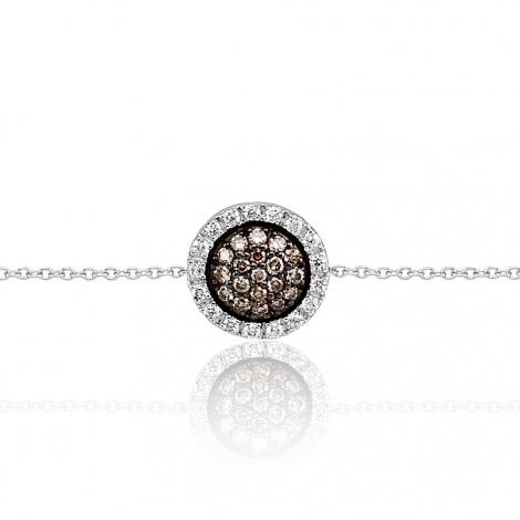 Bracelet diamants blancs et bruns One More 0.23 ct - Cimini -050779A3