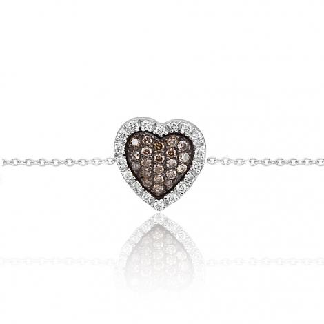 Bracelet diamants blancs et bruns One More 0.23 ct - Cimini -051098A3