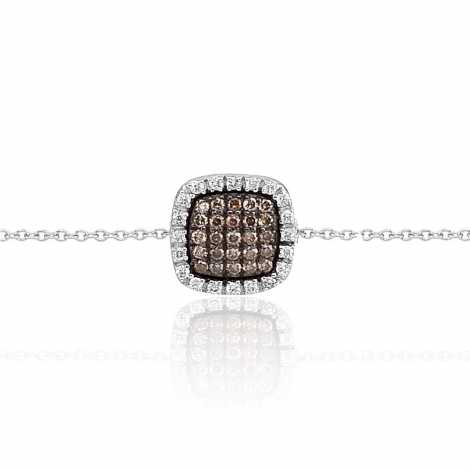 Bracelet diamants blancs et bruns One More 0.29 ct - Cimini -051101A3