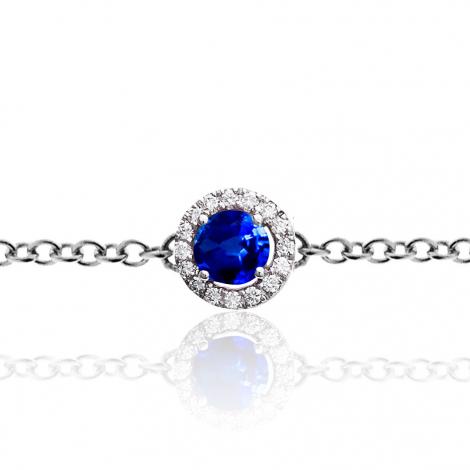 Bracelet diamants One More saphir bleu  0.09 ct - Salina -047599SA