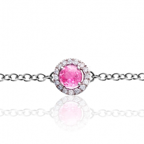 Bracelet diamants One More saphir rose 0.09 ct - Salina -047599XA