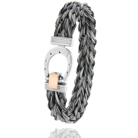 Bracelet en Crin de cheval, acier et or 0.2g Takashi -910CHGCORrose