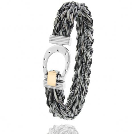 Bracelet en Crin de cheval, acier et or 0.2g Vaiani -910CHGCORjaune