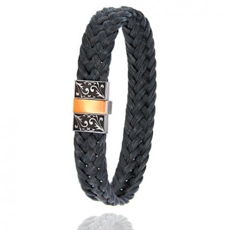 Bracelet en Crin de cheval, acier et or 0.45g Élisabeth -604-2NCHNGRorrose
