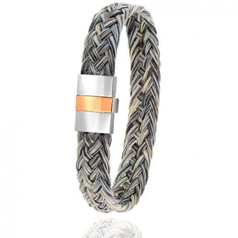 Bracelet en Crin de cheval, acier et or 0.45g Itia -604-2CHGCorrose