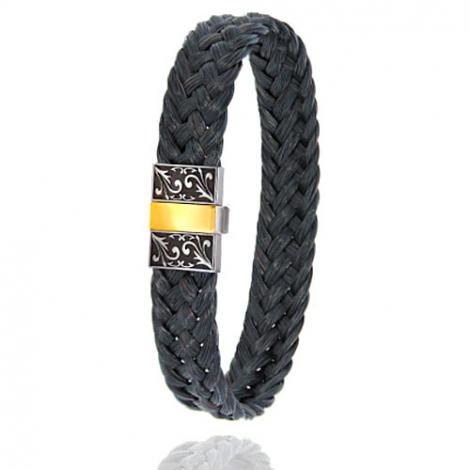 Bracelet en Crin de cheval, acier et or 0.45g Kristina -604-2NCHNGRorjaune