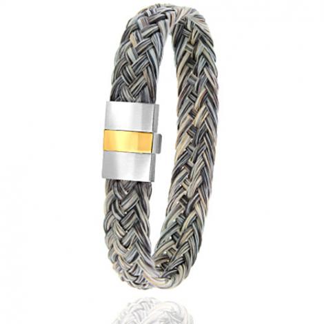 Bracelet en Crin de cheval, acier et or 0.45g Mirna -604-2CHGCorjaune