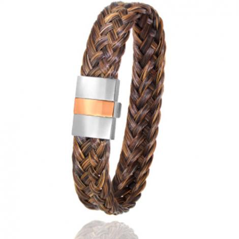 Bracelet en Crin de cheval, acier et or 0.45g Mitiana -604P-2CHMorrose
