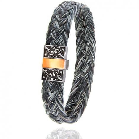 Bracelet en Crin de cheval, acier et or 0.45g Mohea -604-2CHGFGRorrose
