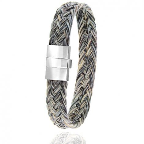 Bracelet en Crin de cheval, acier et or 0.45g Titaina -604-2CHGCorblanc