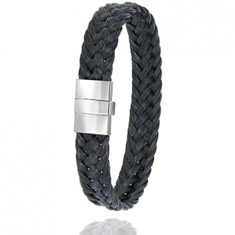 Bracelet en Crin de cheval, acier et or 0.45g Zhen -604-2CHNorblanc