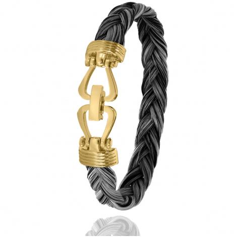 Bracelet en Crin de cheval, acier et or 11g Étincelante -730CHGFORjaune