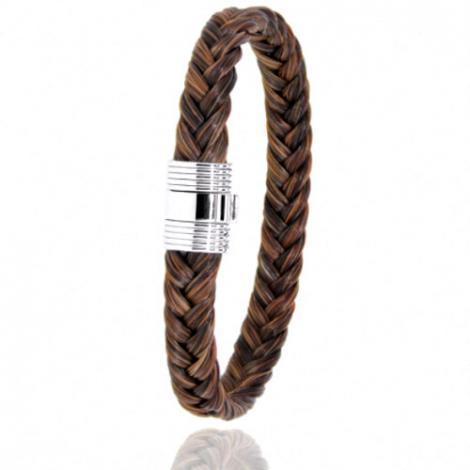 Bracelet en Crin de cheval et acier g Anaëlle -606CHMAC