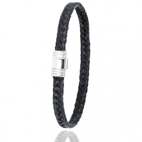 Bracelet en Crin de cheval et acier g Attachement -608CHNAC