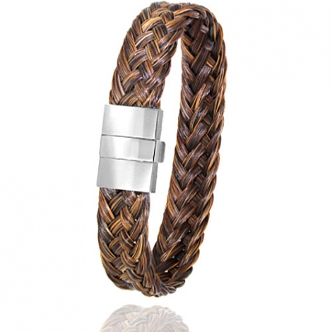 Bracelet en Crin de cheval et acier g Iriata -604CHMAC