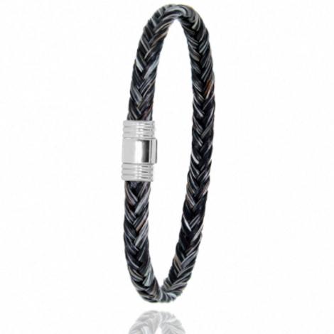 Bracelet en Crin de cheval et acier g Korail -608CHGFAC